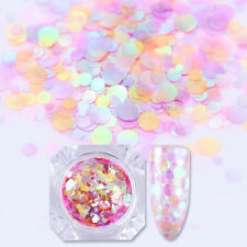Mixed Size Pink Color Nail Art Sequins Glitter UV Gel Decoration Tips DIY