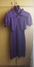 Luisa SPAGNOLI Originale vestito abito lana -Taglia S  Viola WOMEN DRESS ITALIAN