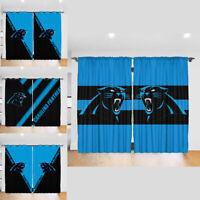 Denver Broncos 2PC Blackout Curtain Panels Bedroom Living Room Window Drapes