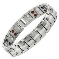 MENS Magnetic Therapy Bracelet 4 Elements Balance Energy Arthritis Pain Relief