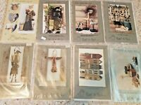 LOT of 8 Heart To Hand Primitive Craft Patterns Folk Art Rustic #59,89,108,90,97
