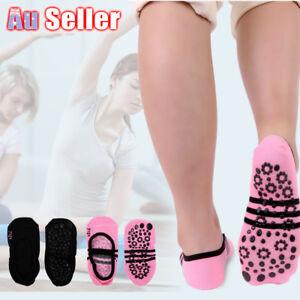 1 Pair Grip Exercise Gym Non Slip Pilates Massage Ballet Socks Yoga Socks