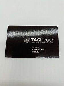 Tag Heuer Limited International Warranty Guarantee Card Blank Spanish