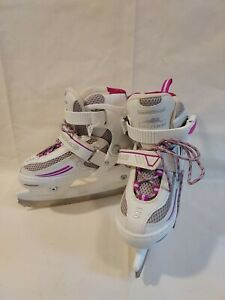 LAKE PLACID Ice Skates Girls YOUTH Size J10-13 Roller Derby