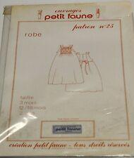PATRON PETIT FAUNE N° 25 - ROBE BÉBÉ 3 Mois - 12/18 Mois - 2 Ans