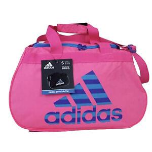 ADIDAS Diablo Small II Duffel Gym Bag/Travel Bag Pink Blue NEW