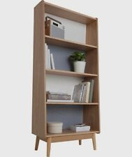 Foley Veneer Bookcase With Colour Back Scandinavian Retro  Modern Design