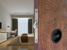 Black Zinc Alloy Invisible Barn Wood Sliding Door Gate Cup Handle Lock Hardware
