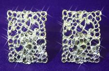 SILVER FILIGREE CLIP ON EARRINGS RED HAT SOCIETY