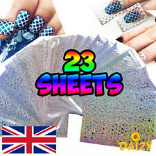 23 SHEETS NAIL ART VINYL MANICURE STENCILS GUIDE ROSES ABSTRACT HEARTS RETRO