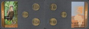 zairean zaire Stgl./unzirkuliert Kursmünzen ab 1987 1 zairean zaire until 10 zai