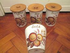 Vintage 60s kitchen storage jars Contessa Giftware England