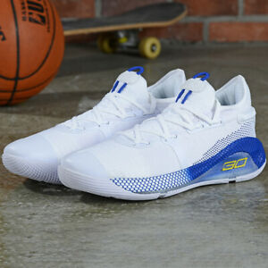White Blue Men's Under Armour Curry 6 Training Basketball Shoes US12