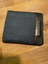 BURBERRY wallet designer fair condition LEATHER AND POLYESTER