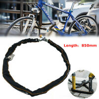 Anti-theft Bicycle Chain Lock Portable Road Bike Scooter Security Lock with Keys