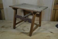 18th Century Scrub Top Tavern Table - Hand Forged Nails - Through Tenons