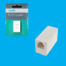 Maplin RJ11 Coupler Networking Ethernet Cable Extender 6P2C Leads Connector