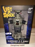 """Lost in Space Electronic B-9 Robot 11"""" W/ Lights and Sounds - NEW - Free Ship!"""