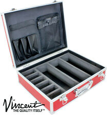 Vincent Master Barber Small Clipper Trimmer Storage Travel Case VT10143-RD  red