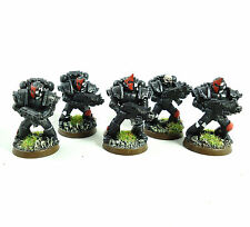 WARHAMMER 40K ARMY SPACE MARINE BLOOD ANGELS CONVERTED 5 MAN SQUAD PAINTED