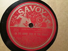 COZY COLE's All Stars w/ COLEMAN HAWKINS - On the Sunny Side  SAVOY 519 - 78rpm