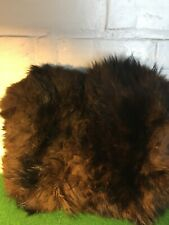 VINTAGE FUR MUFF HANDWARMER LADIES SIZE 10 INCH FROM THE FORTIES EXCELLENT SHAPE