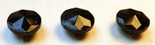36 Vintage Czech Sparkling Black Glass Buttons -9mm