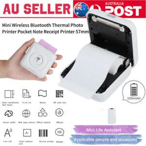 57mm Portable Printer Mini Wireless Bluetooth Thermal Photo Note Receipt Printer