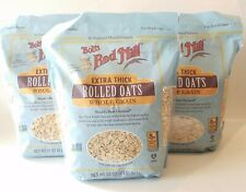 3 Bobs Red Mill Extra Thick Rolled Oats 32oz each Whole Grain Exp 2022 NON GMO