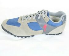 Specialized Men's Lace Up Cycling Single Left Shoe Size 43 Tan Blue Suede Nylon