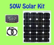 50W Watt Solar Panel panneau solaire Kit controller 12V RV Boat Camping