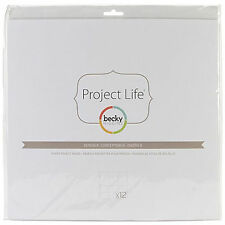 Project Life DESIGN B 12x12 POCKET PAGE PROTECTORS 12-PK scrapbooking 380005