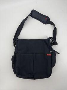 Skip Hop Black Tote Baby Diaper Bag