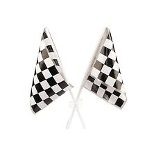 RACING CAR CARS PARTY SUPPLIES CHEQUERED CHECKERED FLAGS DECORATIONS (PCK OF 12)