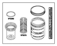 Solids Collector Replacement Kit - Case of (12) Kits