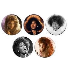 5x Whitney Houston Singer Pop R&B Soul 25mm / 1 Inch D Pin Button Badges