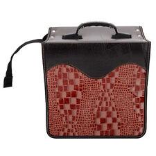 Stylish 520 Disc Cd Dvd Holder Dj Storage Case Pvc Cd Bag Album Brown Black #852