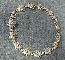 "G&D&CO Sterling Flower Necklace 14"""