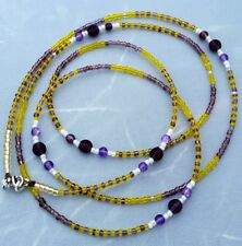 "Very Elegant African waist beads/ waist beads ""I am Able"" self powered Jewelry"