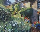 Charming Patrick Ley-Greaves Original Oil Painting - Cotswolds Cottage Garden