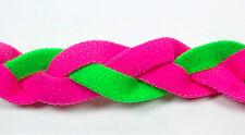 NEW Pink Neon Green Braid Hair Band Head Under Sweaty Headband Armour Non Slip