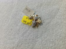 14 K Yellow and White Gold Bug Pin Fly With Diamond