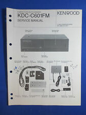 KENWOOD KDC-C601FM CD CHANGER CAR AUDIO SERVICE MANUAL ORIGINAL FACTORY ISSUE