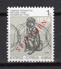 CYPRUS 1992 SPECIAL REFUGEE FUND STAMP - SPECIMEN MNH