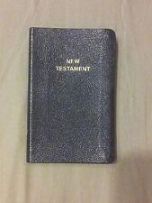Pocket NEW TESTAMENT Bible NKJV Thin Durable BONDED LEATHER New King James BLACK