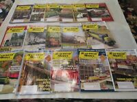 Lot of 16 Issues  Railroad Modeler Trains Magazine 2006 2007 2008 Craftsman