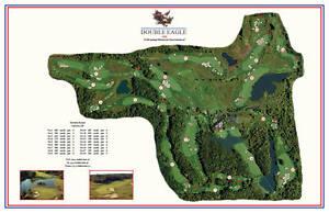 Double Eagle 1992 Morrish/Weiskopf  VintageGolfCourse Maps print