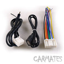 CAR RADIO STEREO CD PLAYER HARNESS+USB Harness+AUX Wiring Harness FOR SUBARU AU