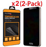 2 Pack Privacy Anti-Spy HD Tempered Glass Screen Protector for Samsung Galaxy S7