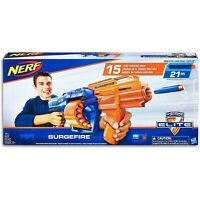 HASBRO NERF ELITE SURGEFIRE BLASTER SLAM-FIRE PUMP ACTION 15-DART DRUM NEW E0014